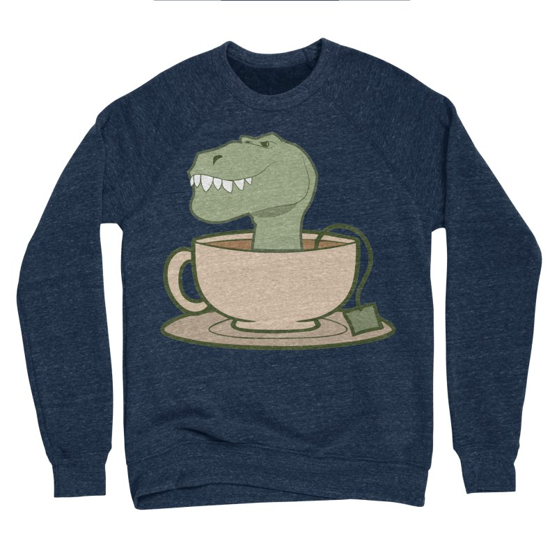 Tea Rex Women's Sponge Fleece Sweatshirt by daniac's Artist Shop
