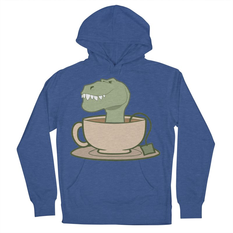 Tea Rex Women's French Terry Pullover Hoody by daniac's Artist Shop