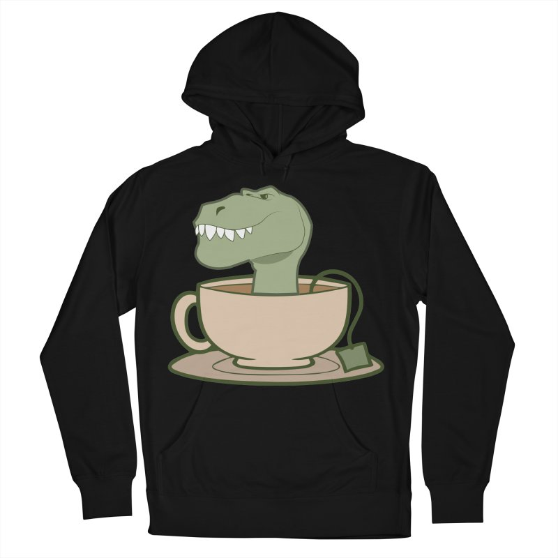 Tea Rex Men's French Terry Pullover Hoody by daniac's Artist Shop