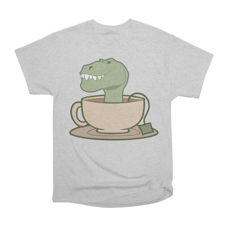Tea Rex Men's Heavyweight T-Shirt by daniac's Artist Shop