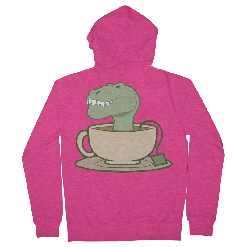 Tea Rex Women's French Terry Zip-Up Hoody by daniac's Artist Shop