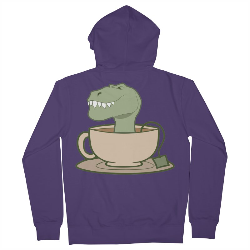 Tea Rex Women's French Terry Zip-Up Hoody by daniac's Artist Shop