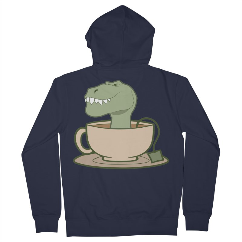 Tea Rex Men's French Terry Zip-Up Hoody by daniac's Artist Shop