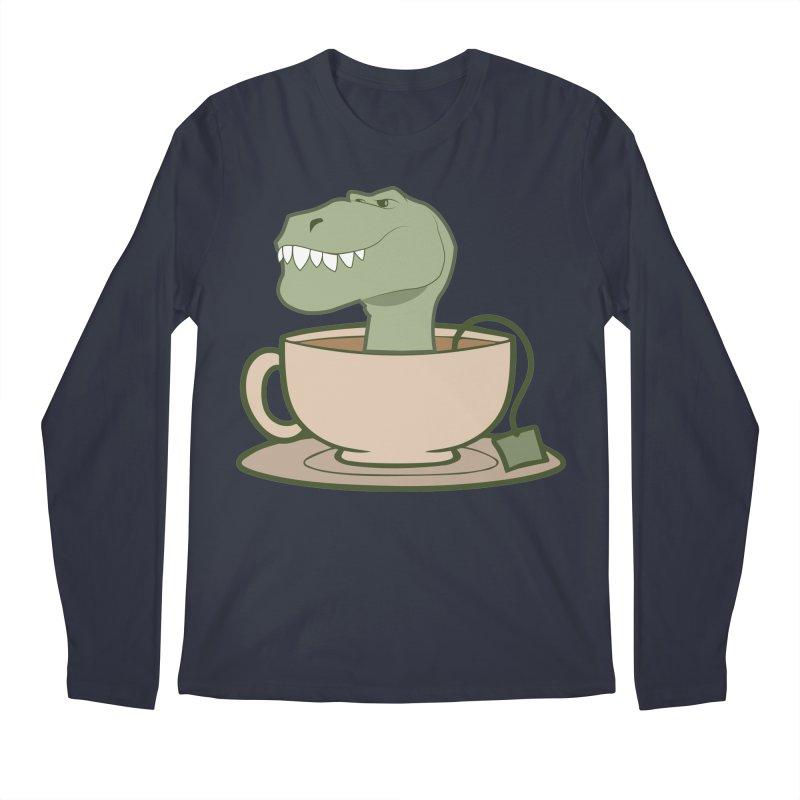 Tea Rex Men's Regular Longsleeve T-Shirt by daniac's Artist Shop
