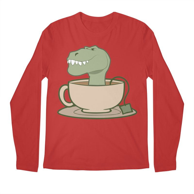 Tea Rex Men's Regular Longsleeve T-Shirt by daniac's Artist Shop