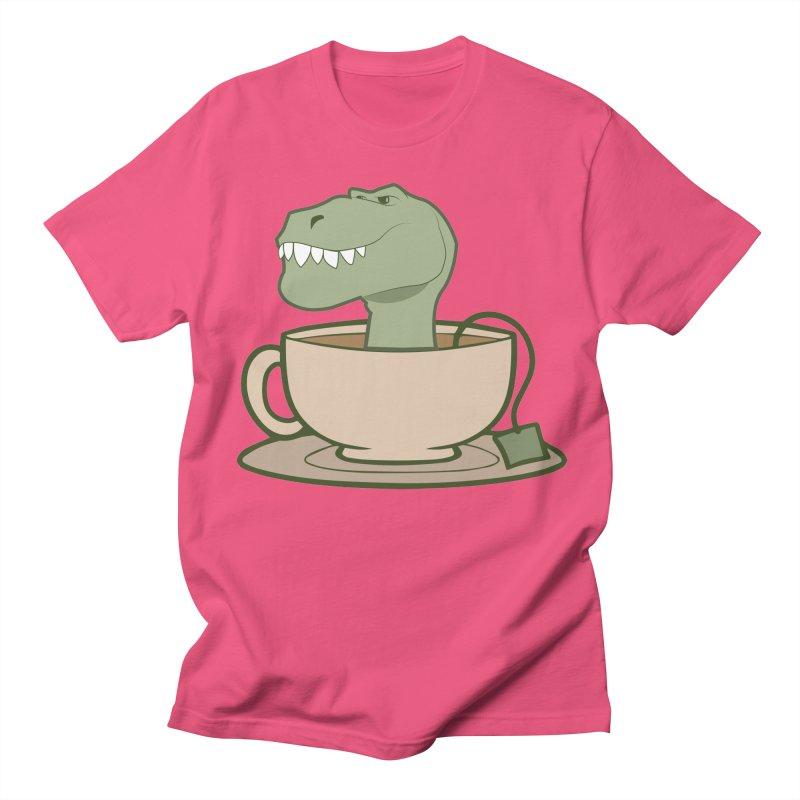Tea Rex Men's Regular T-Shirt by daniac's Artist Shop