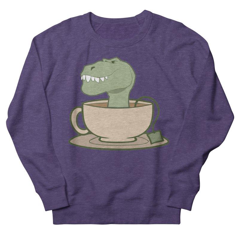Tea Rex Men's French Terry Sweatshirt by daniac's Artist Shop