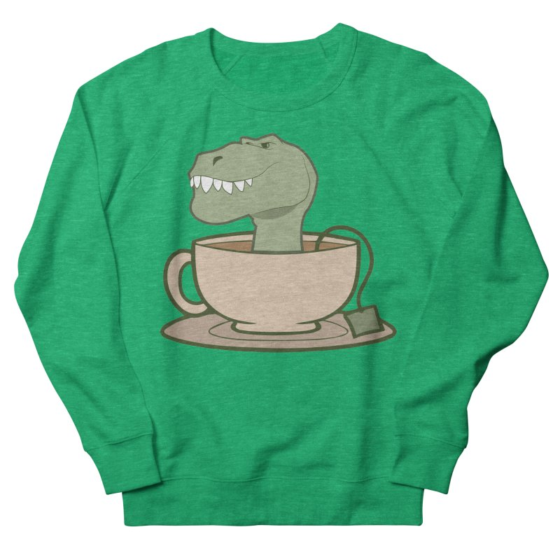 Tea Rex Men's French Terry Sweatshirt by daniac's Artist Shop