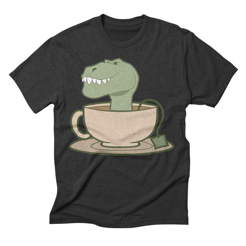 Tea Rex Men's Triblend T-Shirt by daniac's Artist Shop