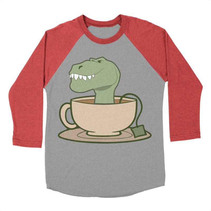 Tea Rex Men's Baseball Triblend Longsleeve T-Shirt by daniac's Artist Shop