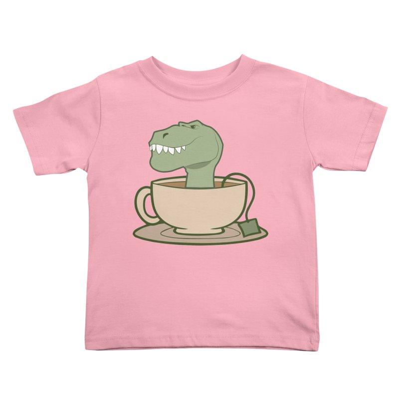 Tea Rex Kids Toddler T-Shirt by daniac's Artist Shop