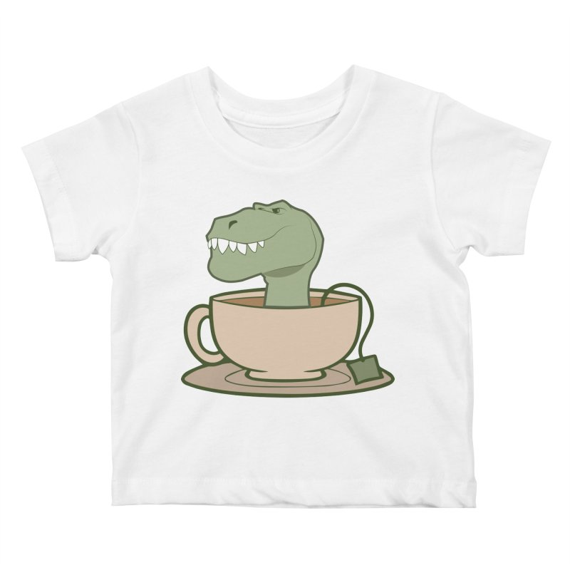 Tea Rex Kids Baby T-Shirt by daniac's Artist Shop