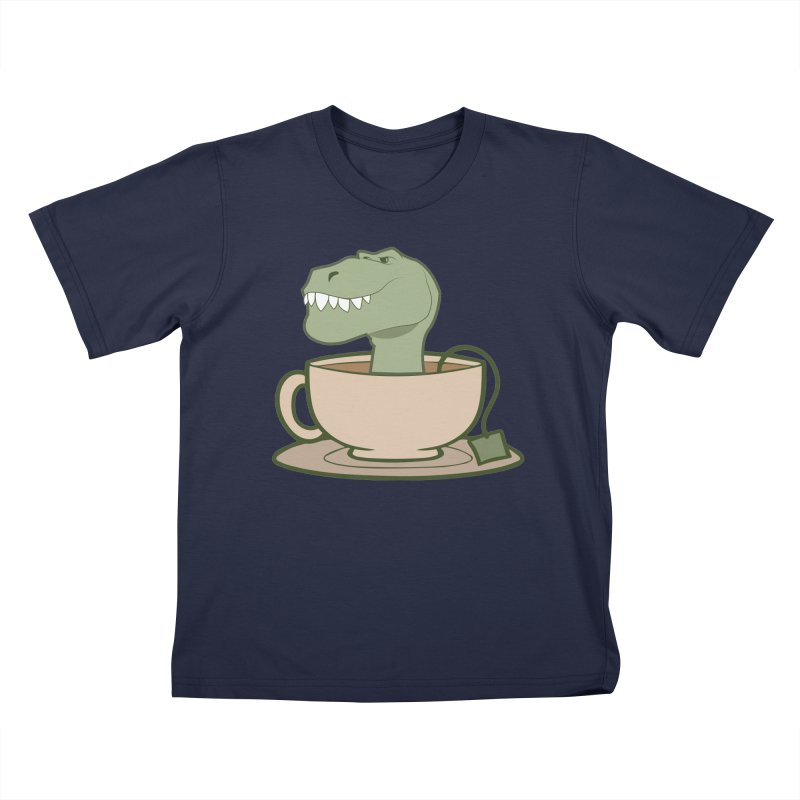 Tea Rex Kids T-Shirt by daniac's Artist Shop