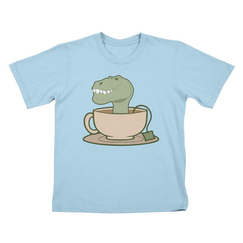 Tea Rex Kids T-Shirt by daniac's Artist Shop