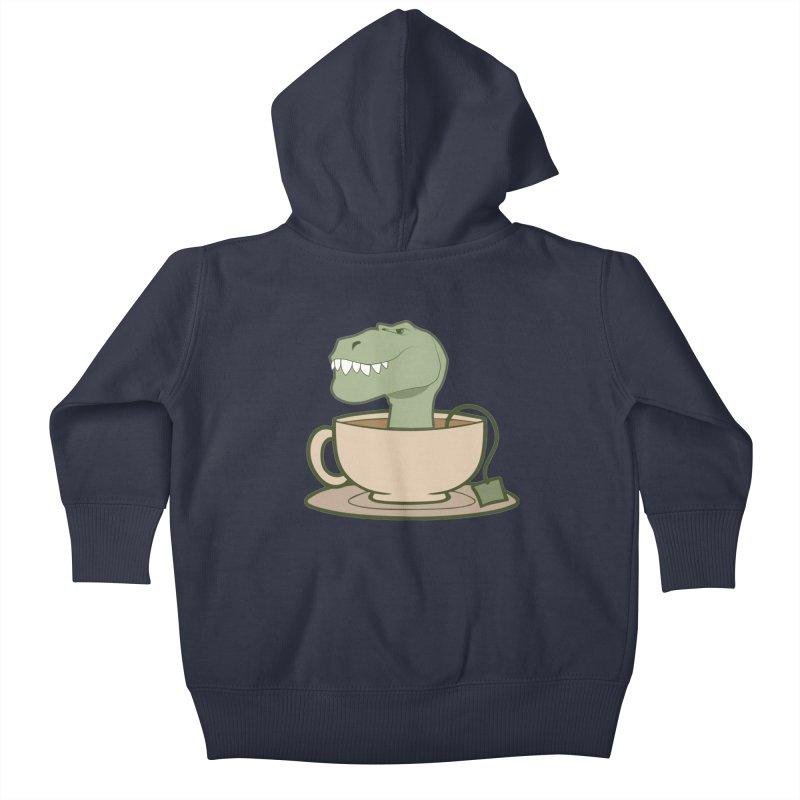 Tea Rex Kids Baby Zip-Up Hoody by daniac's Artist Shop