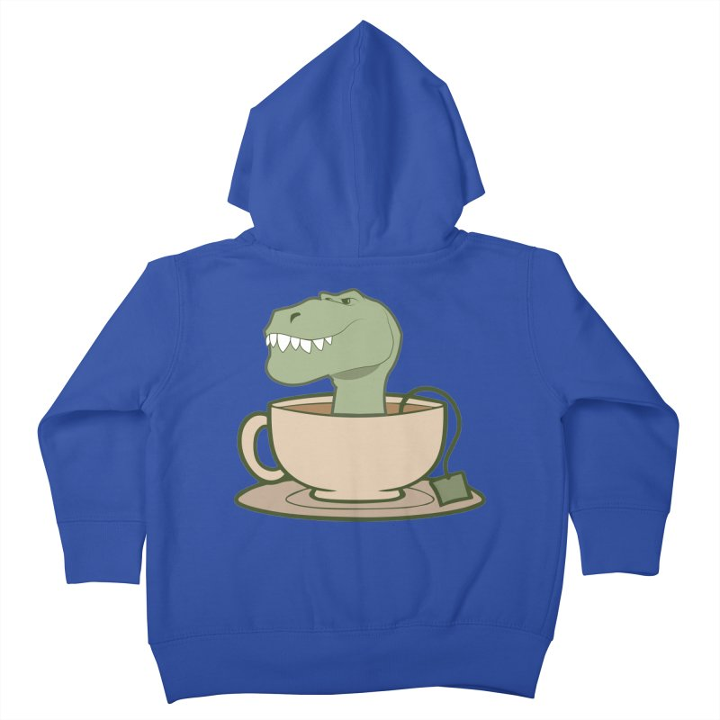 Tea Rex Kids Toddler Zip-Up Hoody by daniac's Artist Shop