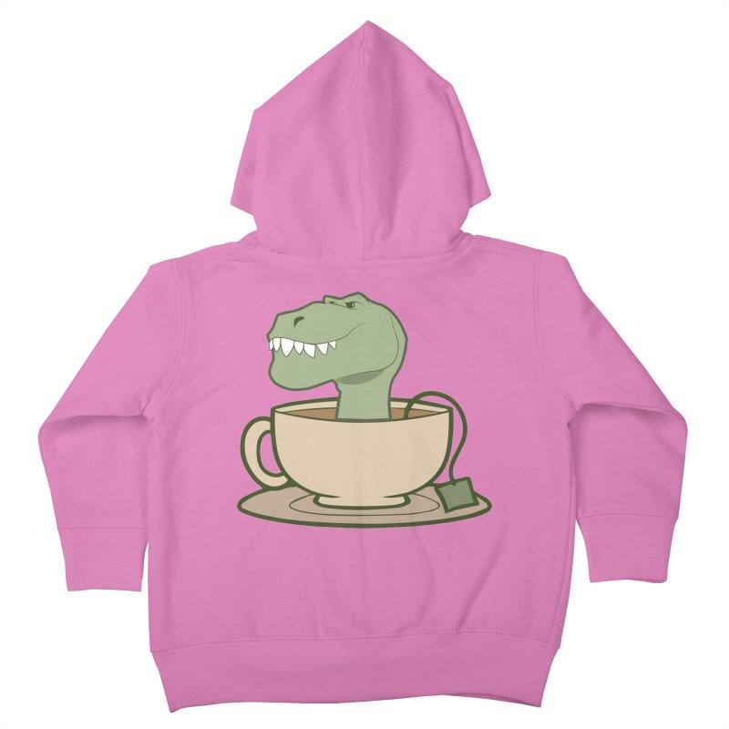 Tea Rex Kids Toddler Zip-Up Hoody by daniac's Artist Shop