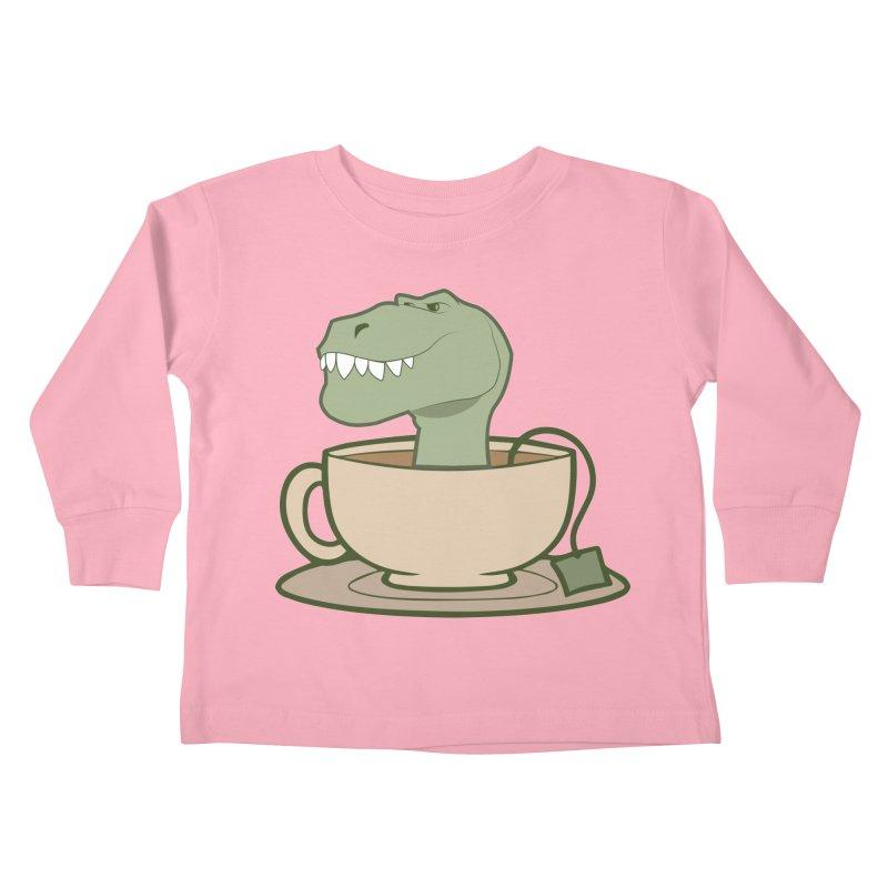 Tea Rex Kids Toddler Longsleeve T-Shirt by daniac's Artist Shop