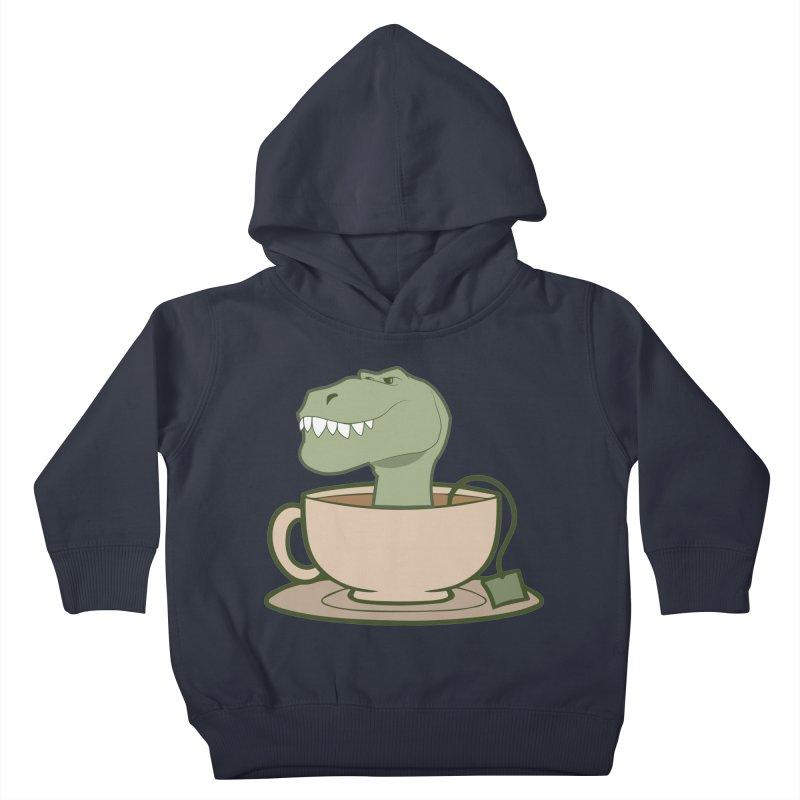 Tea Rex Kids Toddler Pullover Hoody by daniac's Artist Shop
