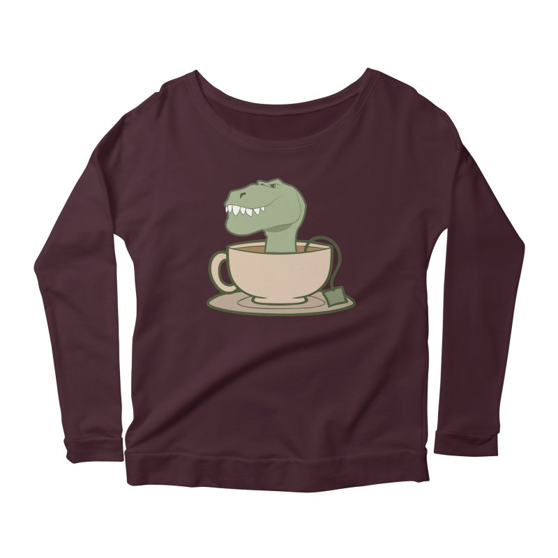 Tea Rex Women's Longsleeve T-Shirt by daniac's Artist Shop