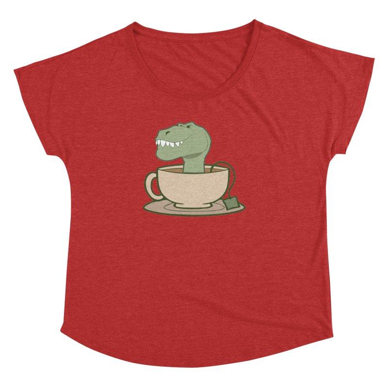Tea Rex Women's Dolman Scoop Neck by daniac's Artist Shop