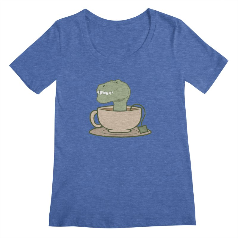 Tea Rex Women's Regular Scoop Neck by daniac's Artist Shop