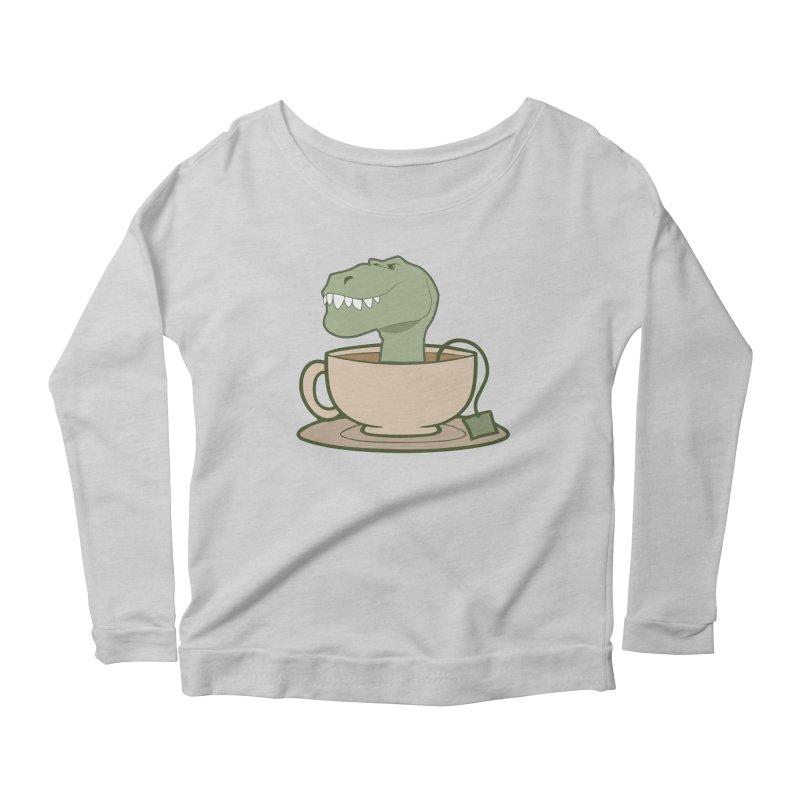 Tea Rex Women's Scoop Neck Longsleeve T-Shirt by daniac's Artist Shop