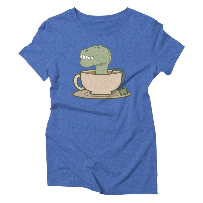 Tea Rex Women's Triblend T-Shirt by daniac's Artist Shop