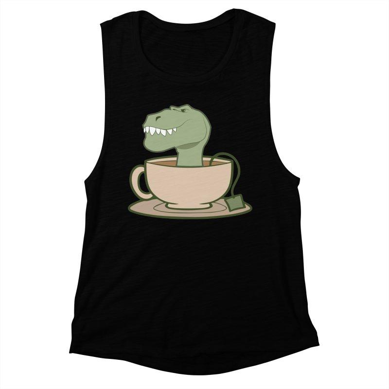 Tea Rex Women's Muscle Tank by daniac's Artist Shop