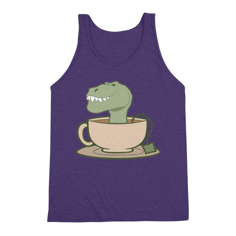 Tea Rex Men's Triblend Tank by daniac's Artist Shop