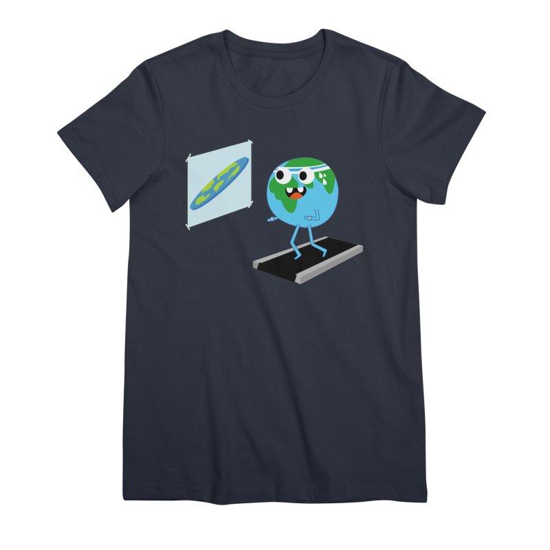 Flat earth Women's T-Shirt by daniac's Artist Shop