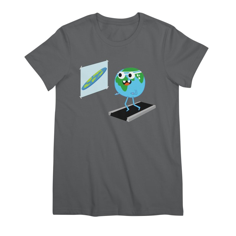 Flat earth Women's T-Shirt by daniac's Artist Shop