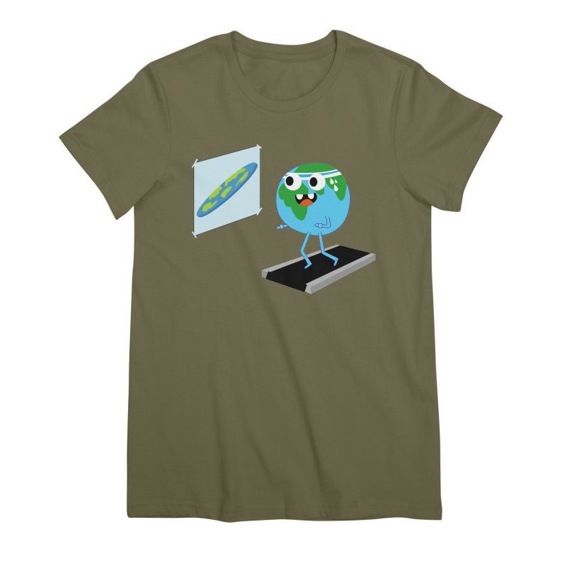 Flat earth Women's Premium T-Shirt by daniac's Artist Shop