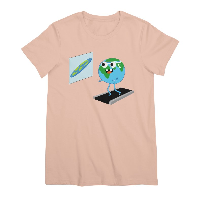 Flat earth Women's Premium T-Shirt by daniac's Artist Shop