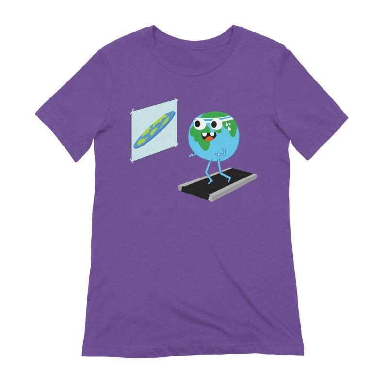 Flat earth Women's Extra Soft T-Shirt by daniac's Artist Shop