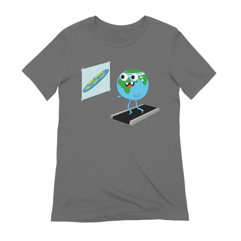 Flat earth Women's Extra Soft T-Shirt by daniac's Artist Shop