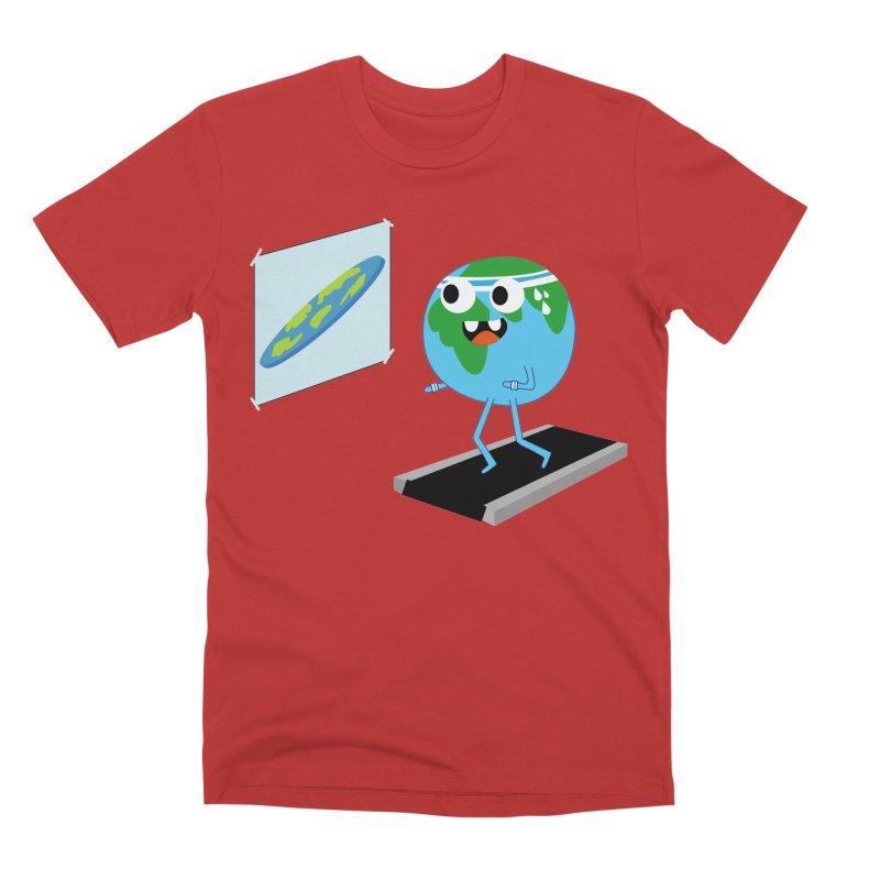 Flat earth Men's Premium T-Shirt by daniac's Artist Shop