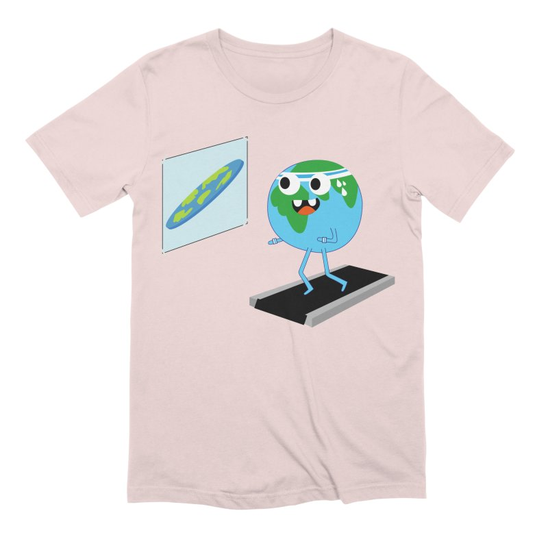 Flat earth Men's Extra Soft T-Shirt by daniac's Artist Shop
