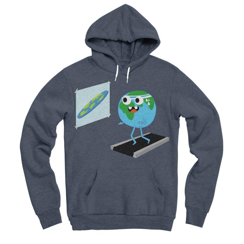 Flat earth Men's Sponge Fleece Pullover Hoody by daniac's Artist Shop