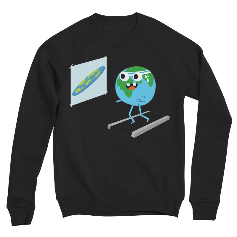 Flat earth Women's Sponge Fleece Sweatshirt by daniac's Artist Shop