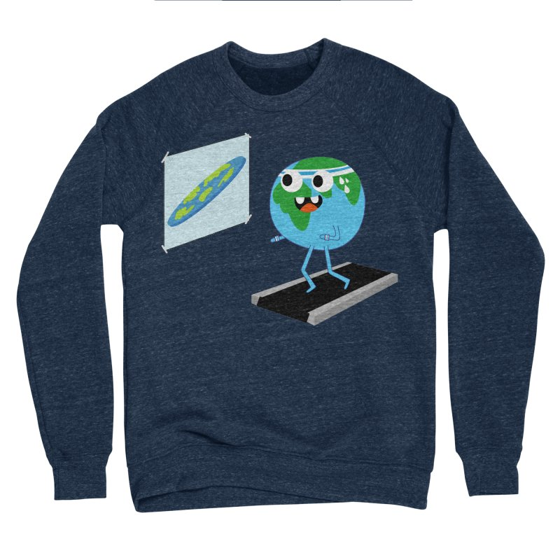 Flat earth Men's Sponge Fleece Sweatshirt by daniac's Artist Shop