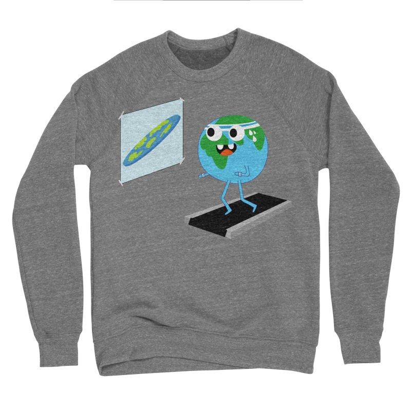 Flat earth Women's Sponge Fleece Sweatshirt by daniac's Artist Shop