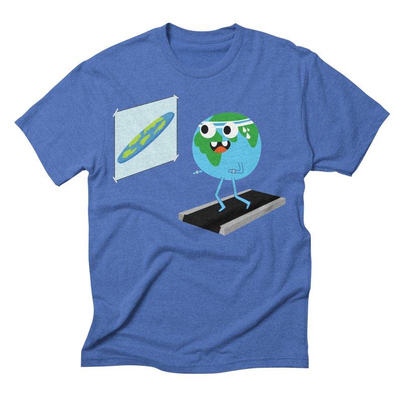 Flat earth Men's T-Shirt by daniac's Artist Shop