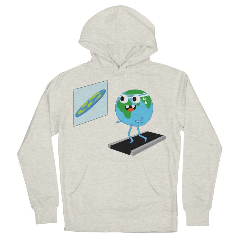 Flat earth Women's French Terry Pullover Hoody by daniac's Artist Shop