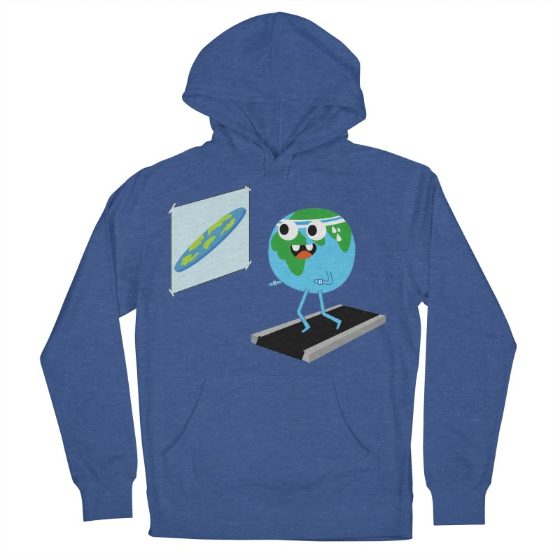 Flat earth Men's French Terry Pullover Hoody by daniac's Artist Shop