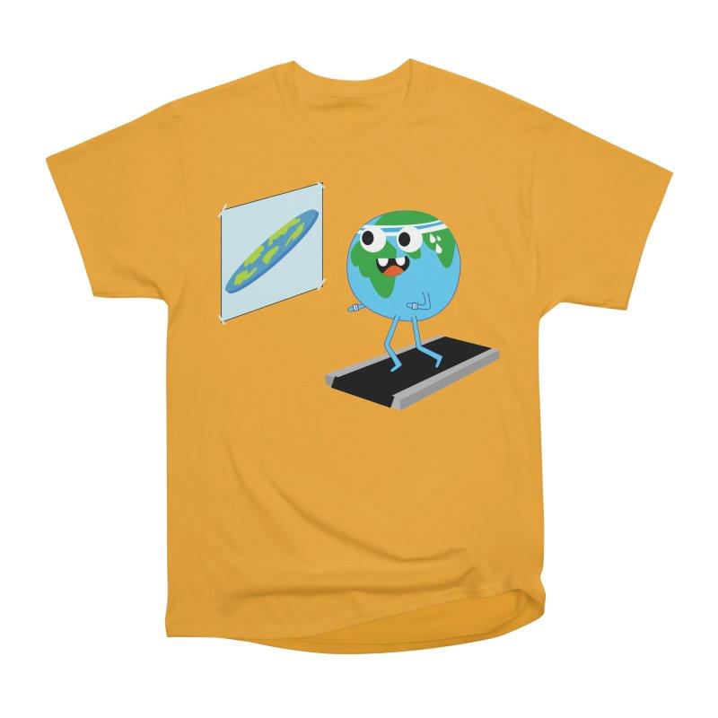 Flat earth Women's Heavyweight Unisex T-Shirt by daniac's Artist Shop