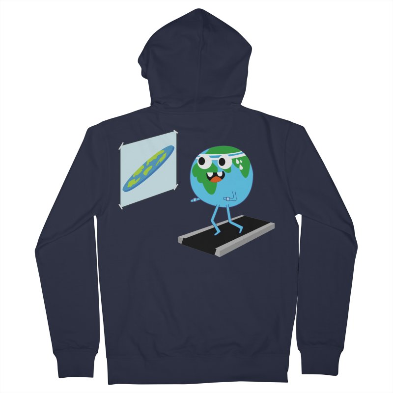 Flat earth Women's French Terry Zip-Up Hoody by daniac's Artist Shop
