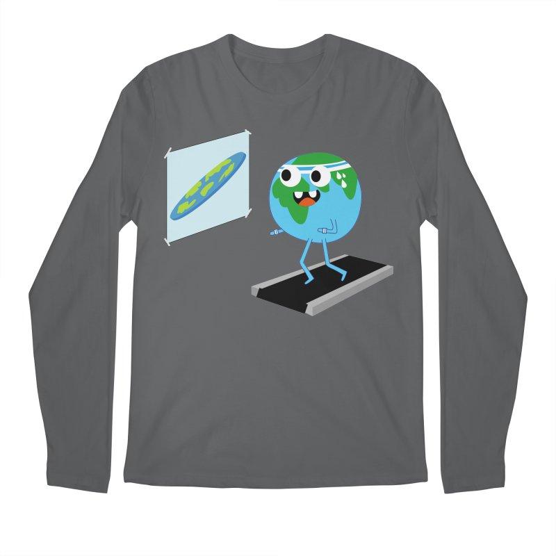 Flat earth Men's Regular Longsleeve T-Shirt by daniac's Artist Shop