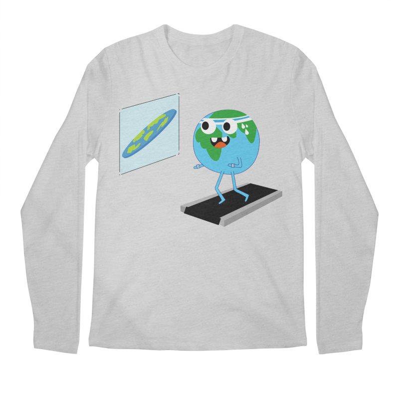Flat earth Men's Regular Longsleeve T-Shirt by daniac's Artist Shop