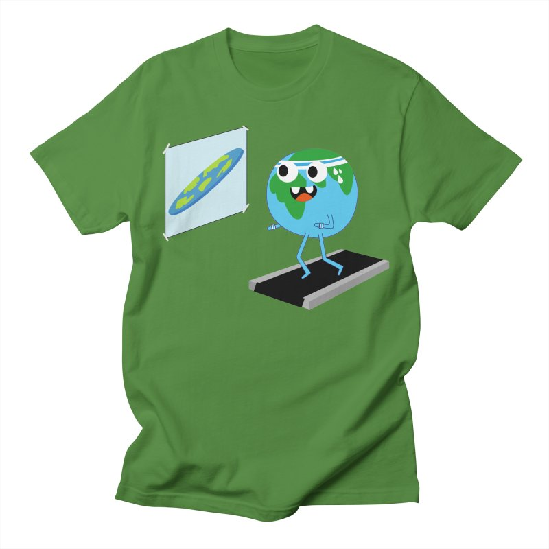 Flat earth Men's Regular T-Shirt by daniac's Artist Shop